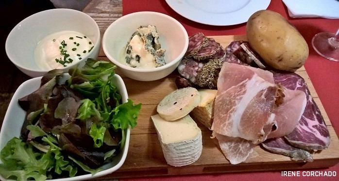 Fin de semana en Niza_tabla de embutidos y quesos corsos