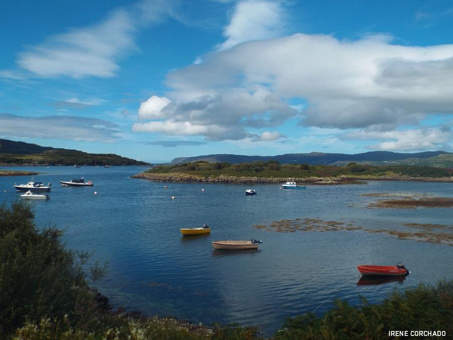 barcos en Ulva, Escocia