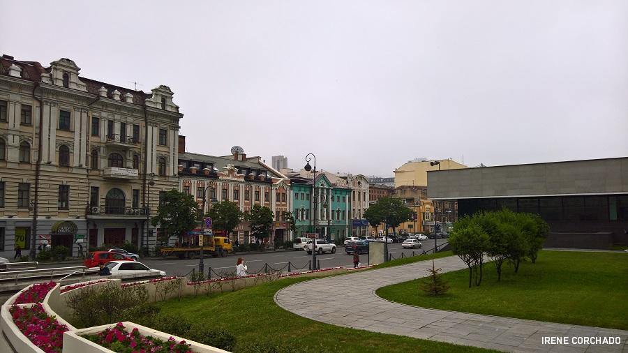 Calle en Vladivostok, Rusia