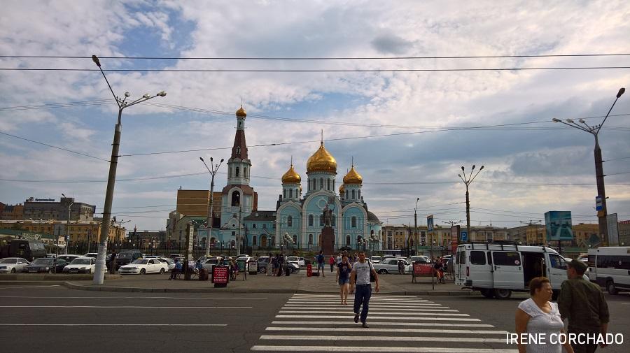 plaza de la estacion de Chita, Rusia