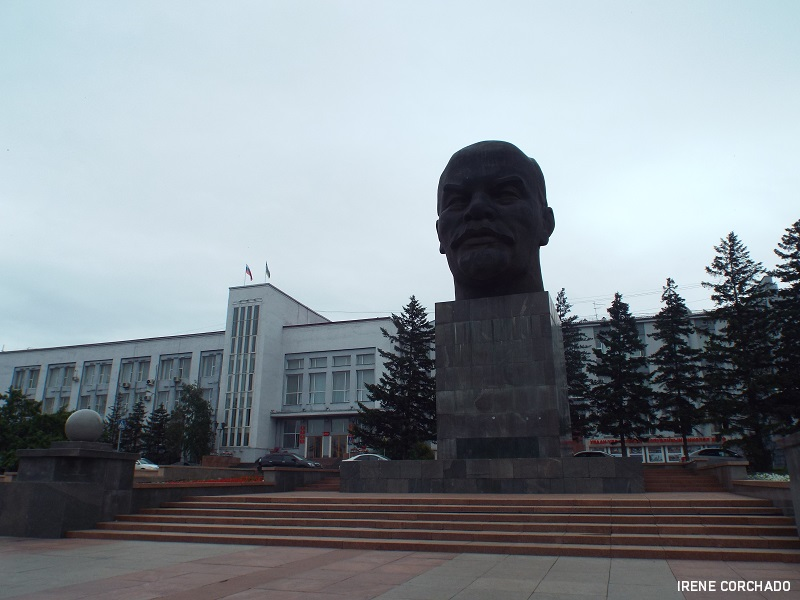 Cabeza de Lenin en Ulan-Ude, Rusia