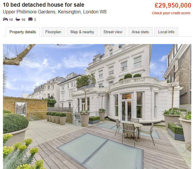Casa-en-Kensington-Zoopla